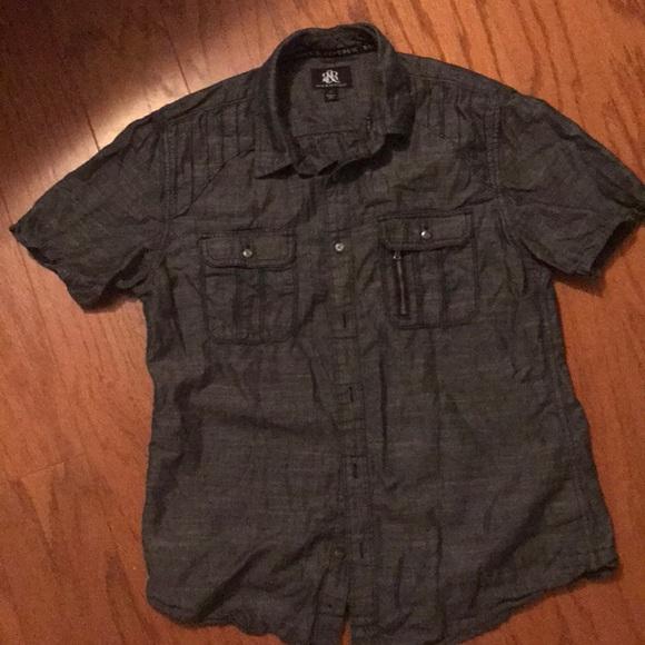 Rock & Republic Other - EUC Rick & republic men's casual shirt, gray, m